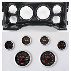 95-98 GM Truck Carbon Dash Carrier Concourse Black Face Gauges