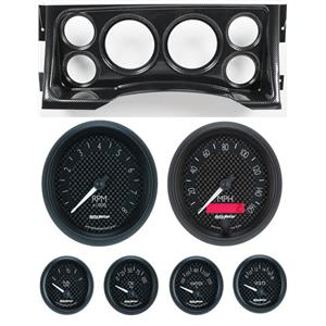 95-98 GM Truck Carbon Dash Carrier w/ Auto Meter GT Gauges