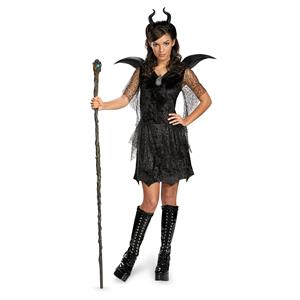 Maleficent Christening Black Disney Gown Deluxe Teen Costume 7-9