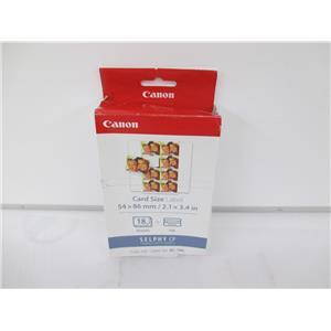 Canon 7740A001 (KC-18IL) Ink/Label Combo, Black/Tri-Color - NEW, OPEN BOX