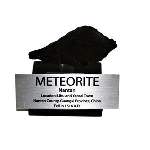 NANTAN IRON METEORITE 47.1 grams w/ Acrylic Display Stand, Label, COA #14810 6o