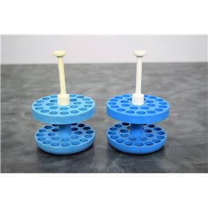 Used: Beckman 349482 Aerosolve Canister Blue Adapter 3/5mL Lot of 2 w/Warranty