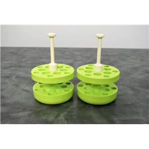 Beckman 359488 Aerosolve Lime Green Adapter 12x3/5 mL Lot of 2 w/Warranty