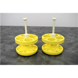 Beckman 359164 4x50mL Yellow Round Bottom Tube Adapters Lot of 2 w/ Warranty