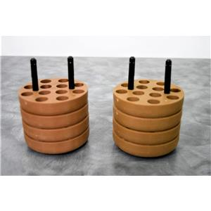 Used: Sorvall Heraeus 54270 12x15mL Brown Swing Bucket Adapters Lot of 2 w/ Warranty