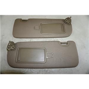 2013-2017 Hyundai Santa Fe Sun Visor Pair Left Right Covered Mirrors Adust Bars