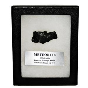 SIKHOTE-ALIN METEORITE 28.6 gm w/Dipslay Box  & COA SDB #14853 11o