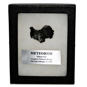 SIKHOTE-ALIN METEORITE 15.0 gm w/Dipslay Box  & COA SDB #14855 11o