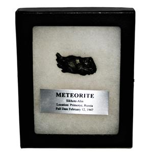 SIKHOTE-ALIN METEORITE 26.7 gm w/Dipslay Box  & COA SDB #14857 11o