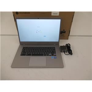 """Samsung - 15.6"""" 4+ Chromebook - Celeron N4000 - 4GB 32GB eMMC - Platinum Titan"""
