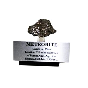 Campo del Cielo METEORITE 47.0 gm w/ Acrylic Display, Label & COA #14907 8o