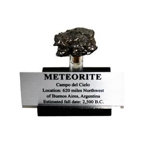 Campo del Cielo METEORITE 39.5 gm w/ Acrylic Display, Label & COA #14912 8o