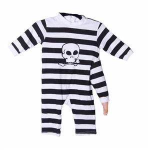 Three Arm Baby Costume Black and White Striped Jumpsuit 12 Months
