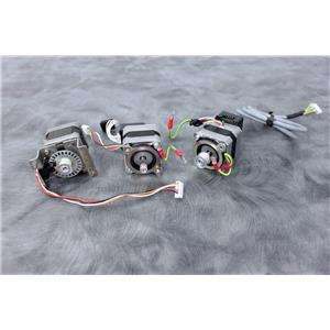 Lot of 3 Stepper Motors w/Gearheads & Encoders for Roche Cobas 4800 w/Warranty