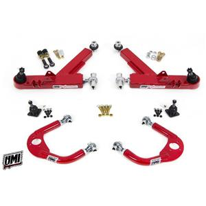 UMI 93-02 Camaro Front A-Arm Kit, Double Shear Mount Boxed Lower + Adj Upper