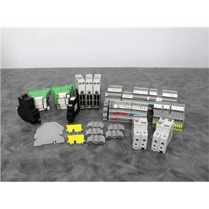 Lot of 90 Phoenix Contact Relays, Spacers, A-B Breakers for Steris VHP 1000ED-AB