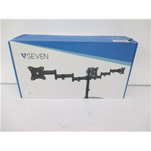 """V7 DS1FST-1N Triple Swivel Desk Stand Mount 3 Displays 13""""-27"""" - FACTORY SEALED"""