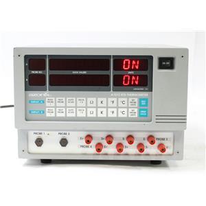 Azonix A10121EXXSP41 RTD-Resistanc Thermometer 2 Channel 4 Probe 105-130VA 12VDC