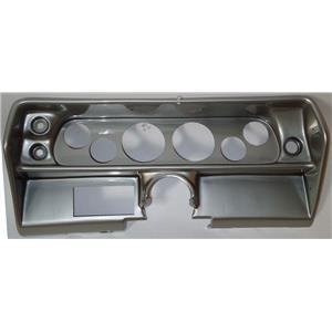 """68 Nova Silver Dash Carrier Panel for 3-3/8"""", 2-1/16"""" Gauges"""