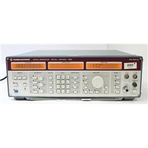 Rohde & Schwarz SMG 100 kHz  1000 MHz RF Signal Generator 801.0001.43 OPT B1 B2