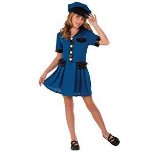 Police Officer Lady Cop Girls Halloween Dress Up Costume Child Medium
