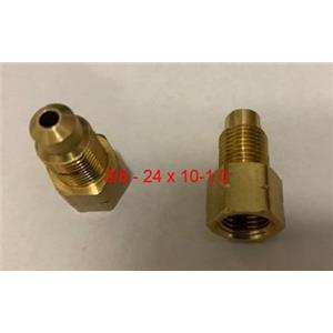 """Thread Adapter Brake Line Female M10 x 1 Inverted Male 3/8"""" x 24 Inverted QTY 2"""