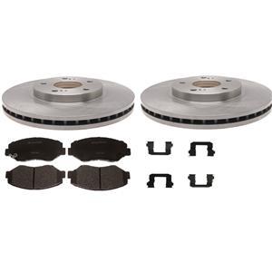 Brake rotor and pad kit Fits CRV 2007-2011 pads rotors hardware FRONT