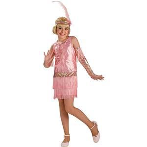 20's Retro Pink Fashion Flapper Costume Child Small 4-6