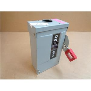 GENERAL ELECTRIC GE TH4321R SAFETY SWITCH, DISCONNECT SWITCH, FUSIBLE HD, 208/1