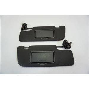2010-2014 Ford Mustang Coupe Sun Visor Set with Covered Lighted Mirrors