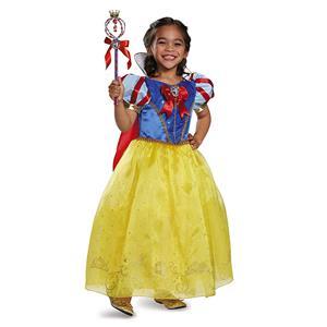 Disney's Disguise Snow White Prestige Costume Girls Medium 7-8