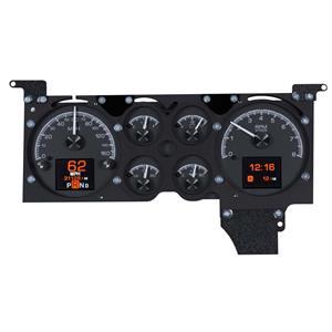 Dakota Digital 78-88 Chevy Monte Carlo Customizable Gauge Kit Black HDX-78C-MC-K