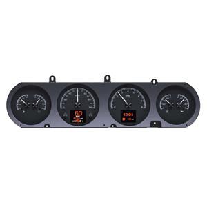 Dakota Digital 64-67 Pontiac GTO Lemans Tempest Analog Gauges Kit Black Alloy HDX-64P-GTO-K