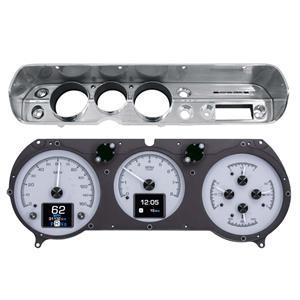 Dakota Digital HDX 65 Chevelle El Camino Analog Gauges Silver Alloy w/ Carrier