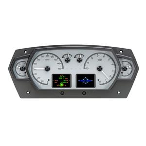 Dakota Digital HDX Universal 6 Gauge Competition Analog Silver Alloy HDX-2200-S