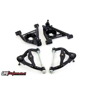UMI Performance 303133-1-B GM G-Body Upper and Lower Front Control Arm Kit Std. Upper Ball Joint -BL