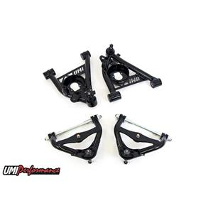 UMI Performance 303133-B GM G-Body Upper and Lower Front Control Arm Kit No Upper Ball Joint - BLK
