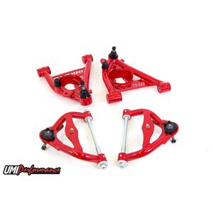 UMI Performance 303133-1-R GM G-Body Upper and Lower Front Control Arm Kit Std. Upper Ball Joint -Re