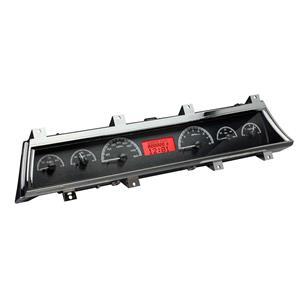 Dakota Digital 66-67 Chevy Chevelle VHX Analog Gauges Black Red w/ Carrier