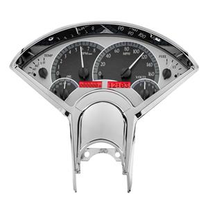 1955-56 Chevy Car VHX System, Silver Face - Red Display