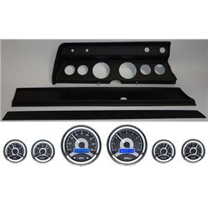 67 Chevelle Black Dash Carrier Panel w/ Dakota Digital VHX Universal 6 Gauge
