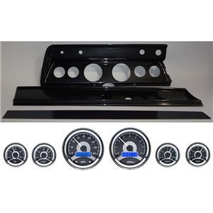 67 Chevelle Carbon Dash Carrier Panel w/ Dakota Digital VHX Universal 6 Gauge