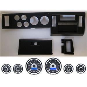 82-86 S10 Pickup Black Dash Carrier w/ Dakota Digital VHX Universal 6 Gauge