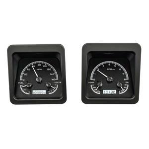 Dakota Digital 69 Chevy Camaro Instruments Analog Dash Gauges Black Alloy White VHX-69C-CAM-K-W