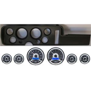 68 GTO Black Dash Carrier Panel w/ Dakota Digital VHX Universal 6 Gauge