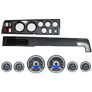 68-70 Mopar B Body Carbon Dash Carrier w/ Dakota Digital VHX Universal 6 Gauge