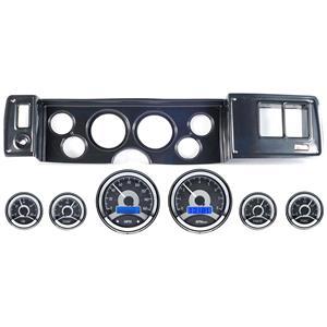 79-81 Camaro Carbon Dash Carrier Panel w/ Dakota Digital VHX Universal 6 Gauge
