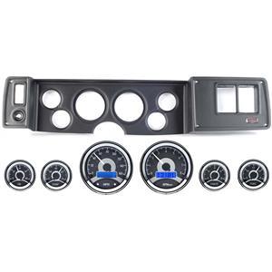 79-81 Camaro Black Dash Carrier Panel w/ Dakota Digital VHX Universal 6 Gauge