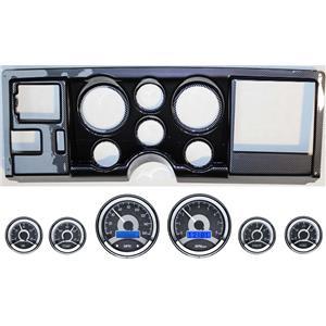 88-94 GM Truck Carbon Dash Carrier Panel w/ Dakota Digital VHX Universal 6 Gauge