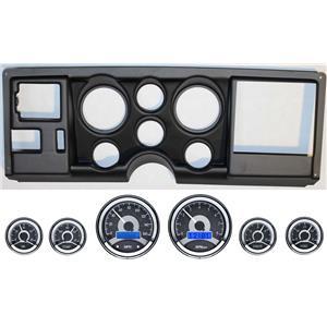 88-94 GM Truck Black Dash Carrier Panel w/ Dakota Digital VHX Universal 6 Gauge